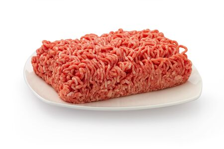 minced meat isolated on white background  Stock Photo