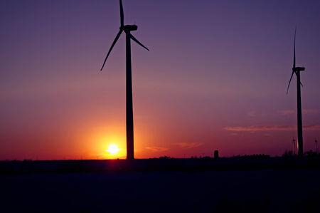 iowa: Iowa Sunset Stock Photo