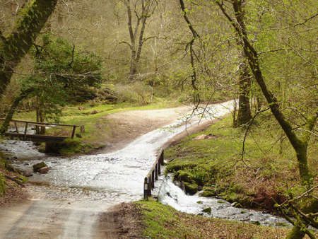 pretty ford at Wilmersham, Exmoor, South West England Stock Photo
