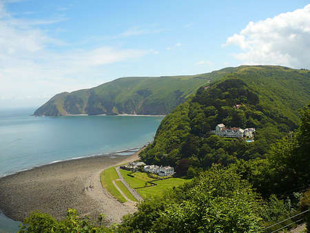 Lynmouth coast, Exmoor, South West England