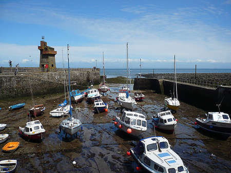 Lynmouth harbour, Exmoor, South West England Stock Photo