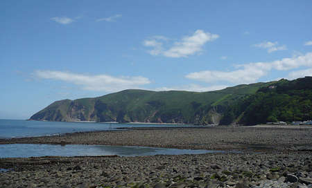 Lynmouth beach, Exmoor, South West England