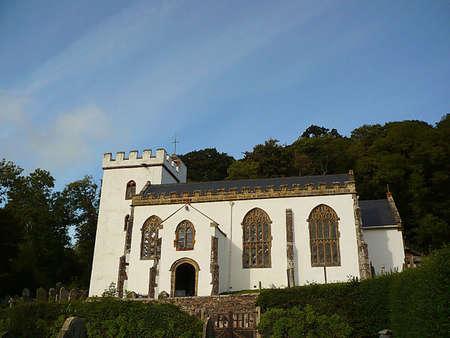 English church, Selworthy, Exmoor, South West England Stock Photo