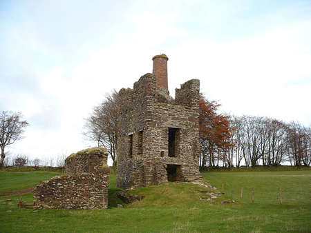 Engine House ruins from the dismantled West Somerset Mineral Line Railway, Exmoor, South West England