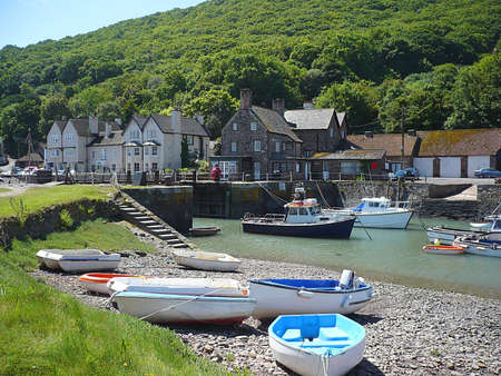 exmoor: Creek, Porlock Weir, Exmoor, South West England