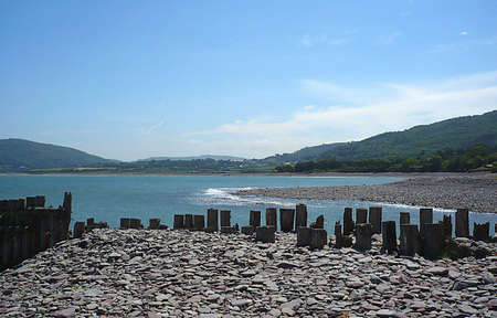 Remains of old sea defences, South West England