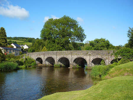 Bridge over River Barle, South West England Stock Photo - 4025634