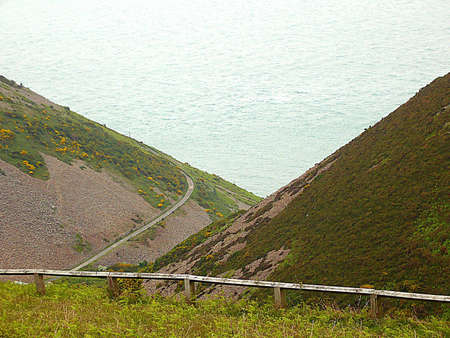 going nowhere: Its a long lane all the way down to Foreland Point Lighthouse and nothing else, South West England