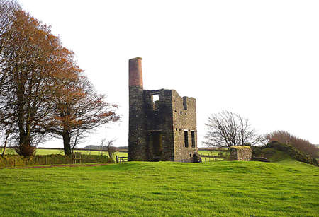 deteriorated: Engine House ruins from the dismantled West Somerset Mineral Line Railway, Exmoor, South West England