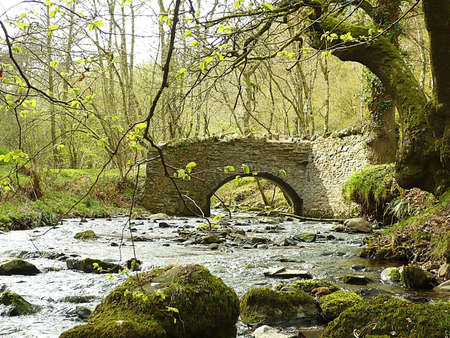 southwest: Nutscale Water bij Pool Bridge, Exmoor, Zuid-West-Engeland Stockfoto