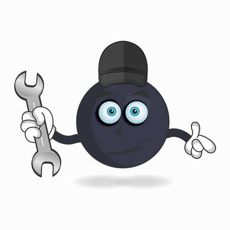 The Boom mascot character becomes a mechanic. vector illustration