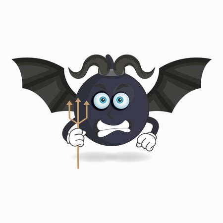 The Boom mascot character becomes a devil. vector illustration