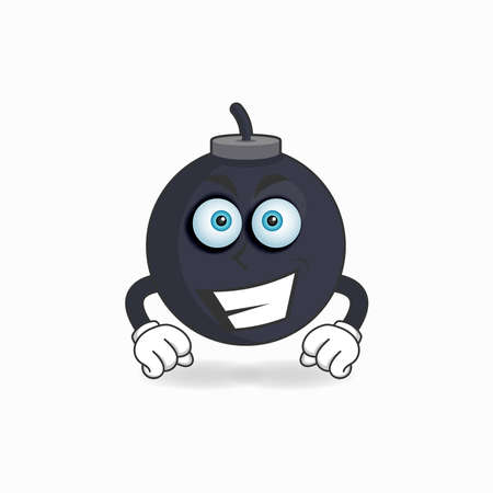 Boom mascot character with smile expression. vector illustration