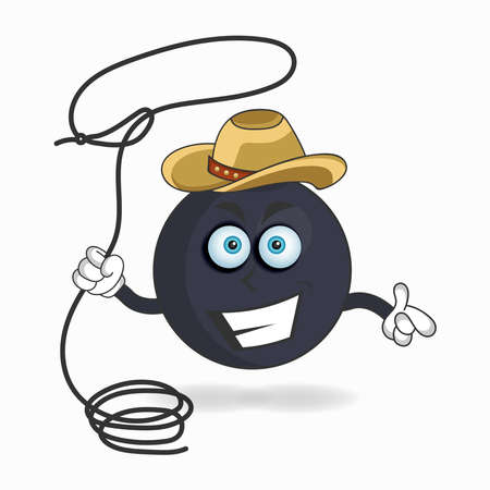 The Boom mascot character becomes a cowboy. vector illustration