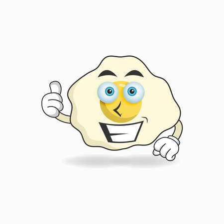 Egg mascot character with smile expression. vector illustration