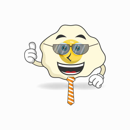 The Egg mascot character becomes a businessman. vector illustration