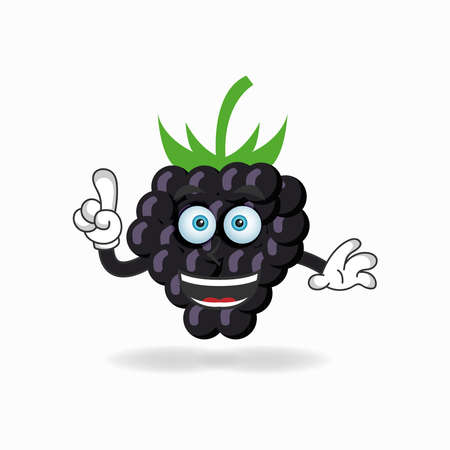 Grape mascot character with smile expression. vector illustration