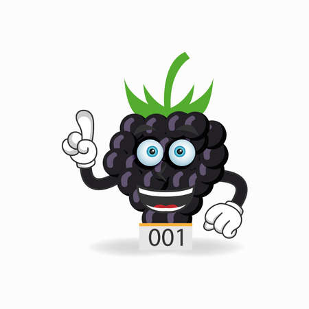 The Grape mascot character becomes a running athlete. vector illustration