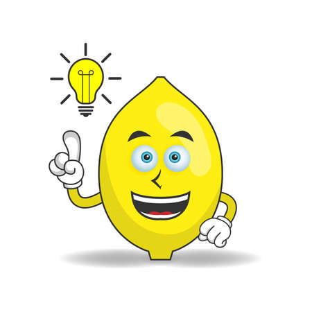 The Lemon mascot character with an expression gets an idea. vector illustration
