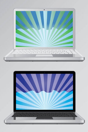 Laptops with the wallpaper Stock Vector - 8957206
