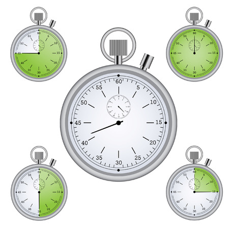 Stopwatch set with 15 min interval timers Illustration