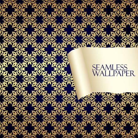 roll curtains: Seamless oriental wallpaper