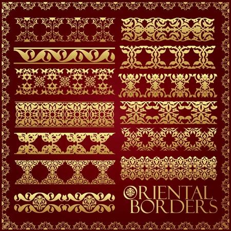 orientalische muster: Orientalischen Stil Schmuck-Elemente. Alle Komponenten sind leicht editierbar und k�nnen montiert werden.