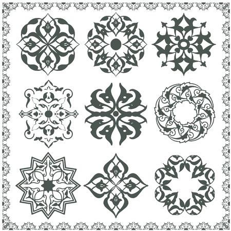 orientalische muster: Orientalisch Ornament Elemente. Alle Komponenten sind leicht bearbeitbaren und montiert werden k�nnen.
