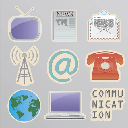 Communication stickers Vector Illustration