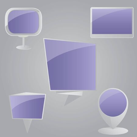 Blank screen set. Stock Vector - 10605537