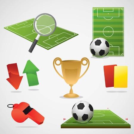 Europeas elementos de fútbol de diseño.