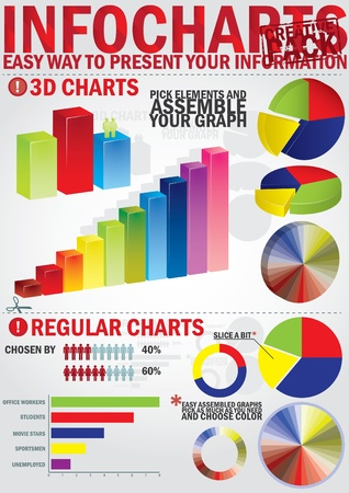 Infochart creative pack. Easy assembling elements for presentation and graph Stock Vector - 10775565