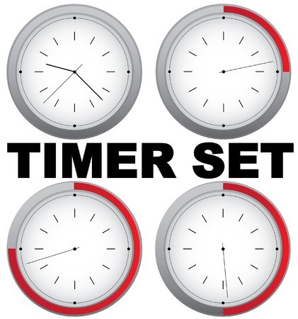 Set of vector timers with 15 min interval Vector