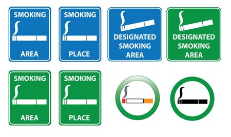allowed: Set of smoking area signs Illustration