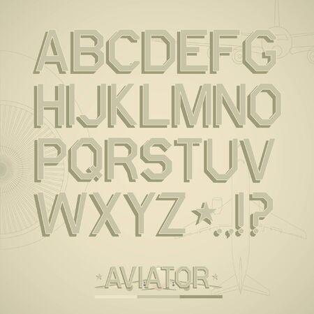 Font. Full alphabet Stock Vector - 17310767