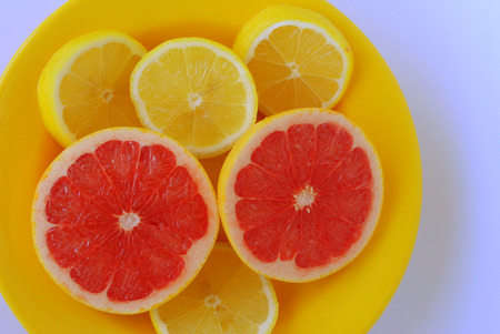 grapefruits: lemons and grapefruits Stock Photo