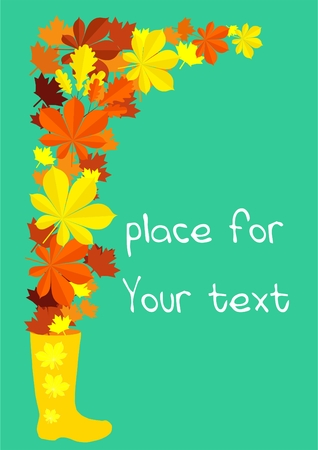 place for text: autumn card with place for text