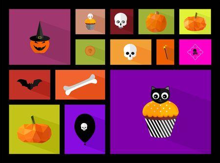 Simple halloween icons