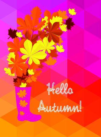 wellingtons: hello autumn Illustration