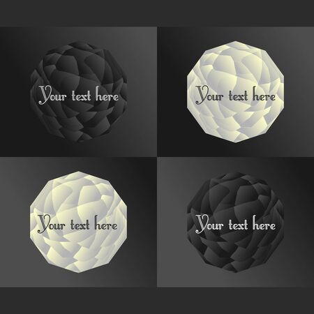 crumpled paper ball: background Illustration
