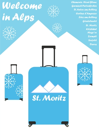em: Welcome in Alps Ilustra��o