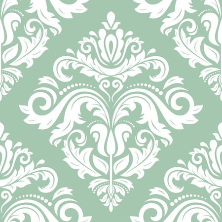 Damask pattern  Seamless vintage abstract texture for wallpapers and background Vector