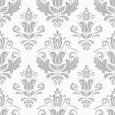 Damask seamless pattern with floral elements  Abstract background in the style of Baroque Vector