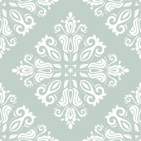 blue damask: Geometric pattern with oriental elements  Seamless background  Abstract texture