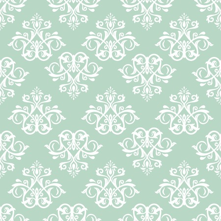 Damask pattern  Seamless vintage abstract texture for background in the style of Baroque Vector