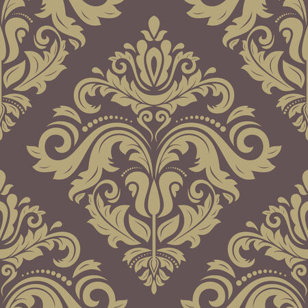Damask pattern  Seamless vintage abstract texture for background in the style of Baroque