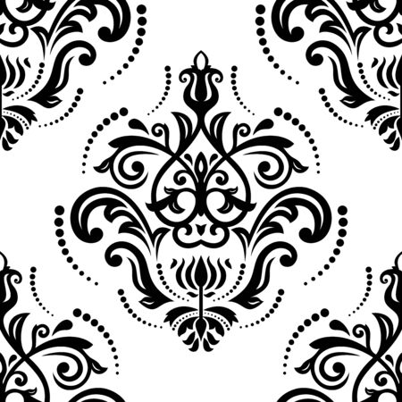 Oriental seamless vector pattern with damask, arabesque and floral elements  Abstract background Vector