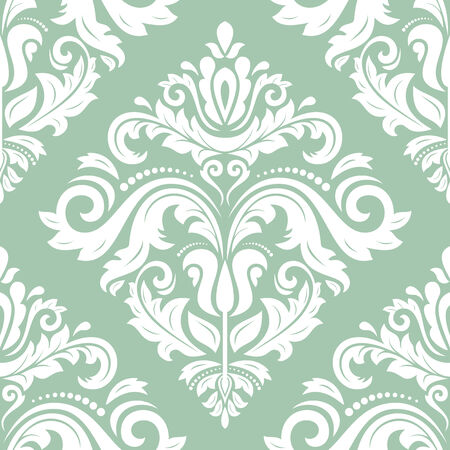 Oriental seamless  pattern with damask, arabesque and floral elements  Abstract background photo