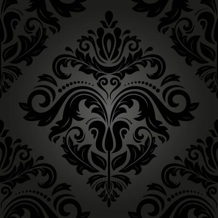 Oriental seamless  pattern with damask, arabesque and floral elements. Abstract background photo