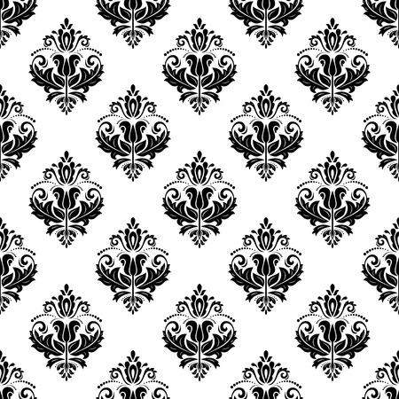 Oosters patroon met damast, arabesk en florale elementen. Naadloze abstracte achtergrond Stockfoto